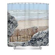 Evanston Shoreline Shower Curtain