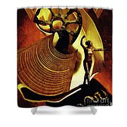 Eve Balanced On A Tightrope Shower Curtain by Sarah Loft