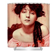 Evelyn On Aquarell Shower Curtain