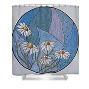 Even Daisies Get The Blues Shower Curtain