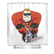Even Super Heroes Have Bad Days Shower Curtain