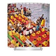 Evening Aarti - Rishikesh India Shower Curtain