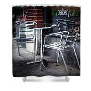 Evening At A Sidewalk Cafe Shower Curtain