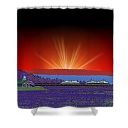 Evening At Alki Shower Curtain