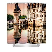 Evening At Chenonceau Castle Shower Curtain