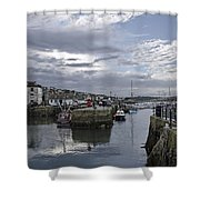 Evening At Custom House Quay - Falmouth Shower Curtain