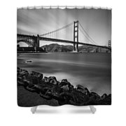 Evening At Golden Gate Bridge Shower Curtain