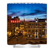Evening At Pabst Shower Curtain