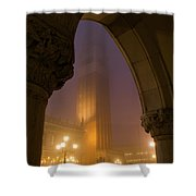 Evening At Piazza San Marcos, Venice Shower Curtain