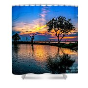 Evening At Riverwinds Shower Curtain