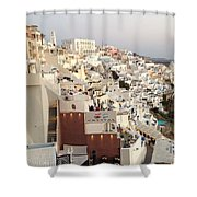 Evening At Santorini Shower Curtain
