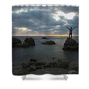 Evening At Sidna Ali Beach 2 Shower Curtain