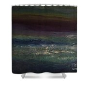Evening At The Beach Shower Curtain