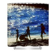 Evening At The Beach Shower Curtain by Stephen Anderson