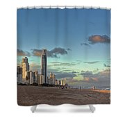 Evening At The Gold Coast Shower Curtain