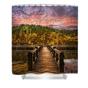 Evening At The Lake Shower Curtain