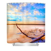 Evening At The Pond Shower Curtain