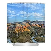 Evening At Yellow Mounds 2 Shower Curtain