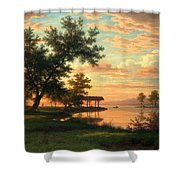 Evening Atmosphere By The Lakeside Shower Curtain