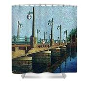 Evening, Bayville Bridge Shower Curtain