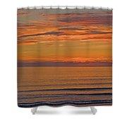Evening Beach Walk Shower Curtain