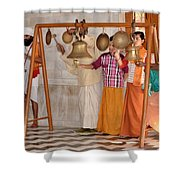 Evening Bells At The Temple Shower Curtain