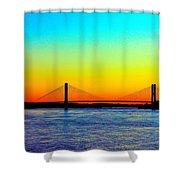 Evening Bridge Shower Curtain