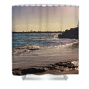 Evening By The Beach Shower Curtain