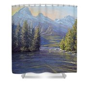 Evening Calm, Taggart Lake Shower Curtain
