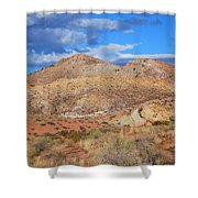 Evening Colors Of The Desert Shower Curtain