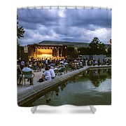 Evening Concert  Shower Curtain by Milan Mirkovic