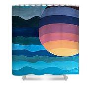 Evening Dip Shower Curtain