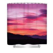 Evening Drama II Shower Curtain
