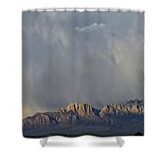 Evening Drama Over The Organs Shower Curtain