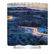evening drive at Canyonlands National park Utah Shower Curtain