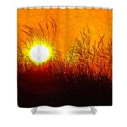 Evening Dunes Impasto Shower Curtain