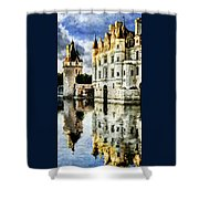 Evening Falls At The Castle Shower Curtain