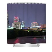 Evening Falls On Indianapolis Shower Curtain