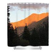 Evening Fire Shower Curtain