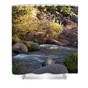 Evening Flow With Light Shower Curtain
