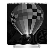 Evening Glow Bw Shower Curtain