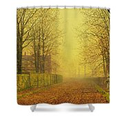 Evening Glow Shower Curtain by John Atkinson Grimshaw