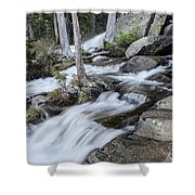 Evening Hikes Shower Curtain by Margaret Pitcher