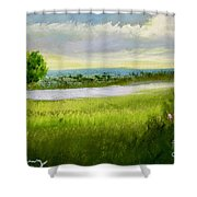 Evening In Calm Shower Curtain