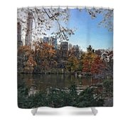 Evening In Central Park Shower Curtain