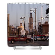 Evening In Chicago Shower Curtain