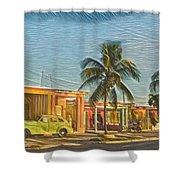 Evening In Cuba Shower Curtain