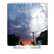 Evening In My City Shower Curtain