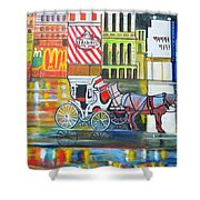 Evening In New York Shower Curtain