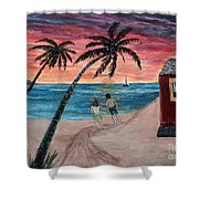 Evening In Paradise Shower Curtain